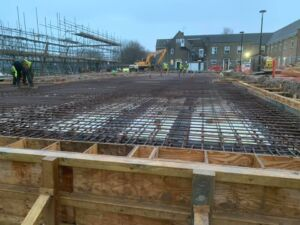Hurstpierpoint College Steel reinforcement